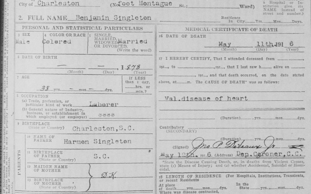 Death Certificates Make Genealogy Come to Life
