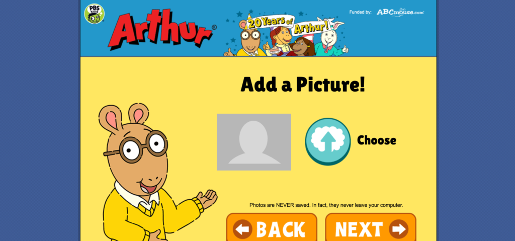 Arthur Add a Picture