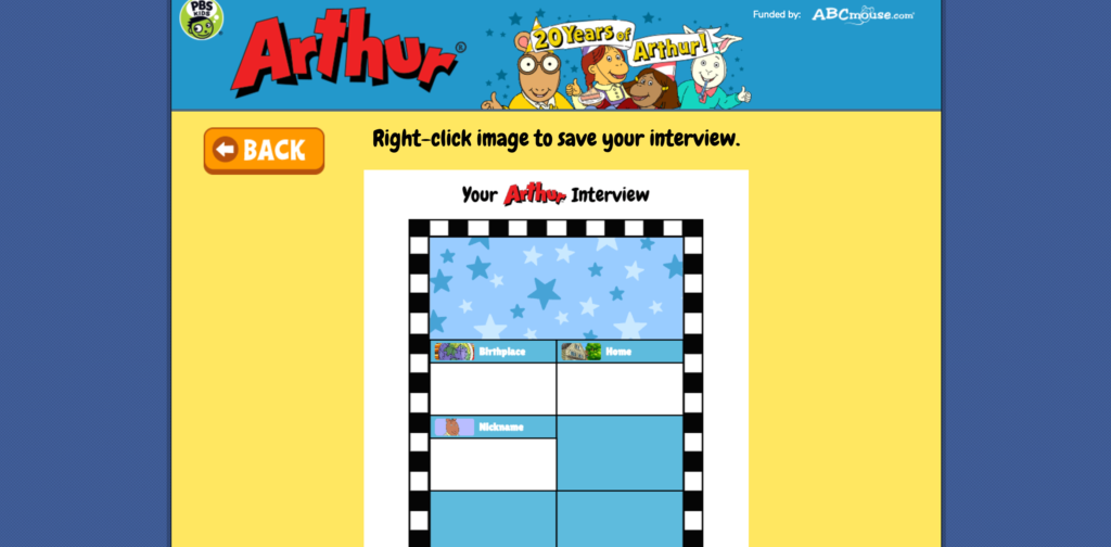 Arthur Right Click to Save Completed Interview