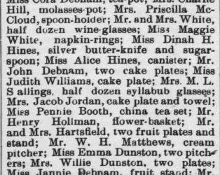 McSwain, R.D. and Rebecca Jeffreys, Marriage Notice, 1897, Raleigh, NC Gazette