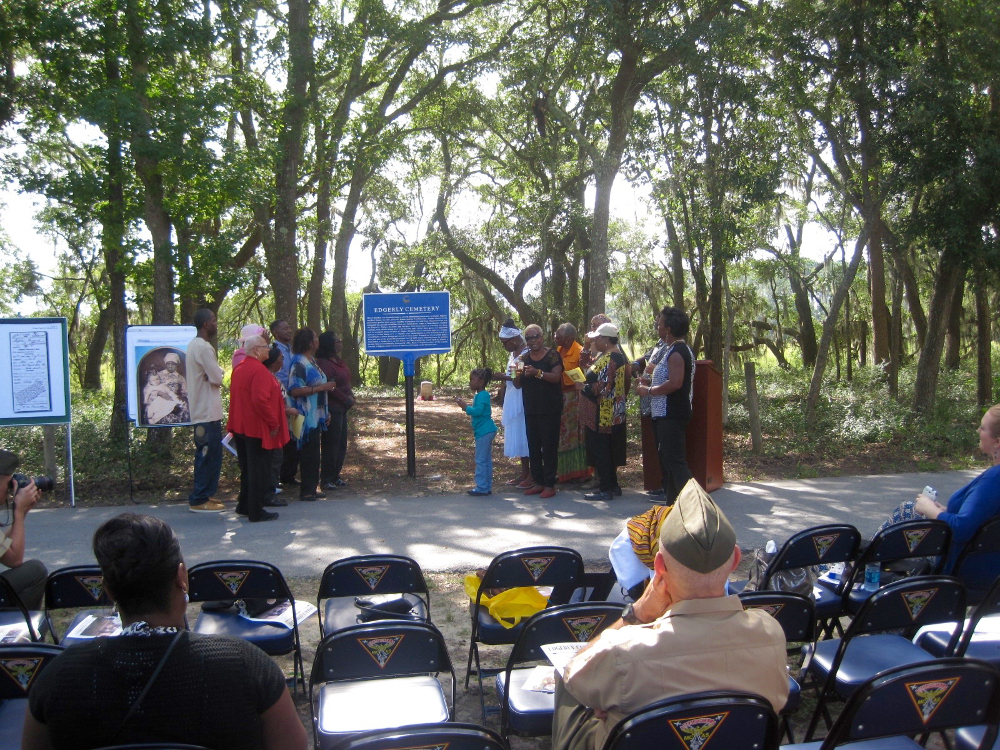 Edgerly Cemetery Sign Dedication Ceremony
