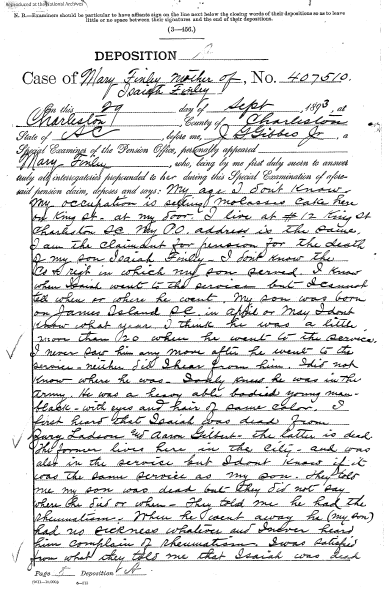 Mary Finley Pension Deposition