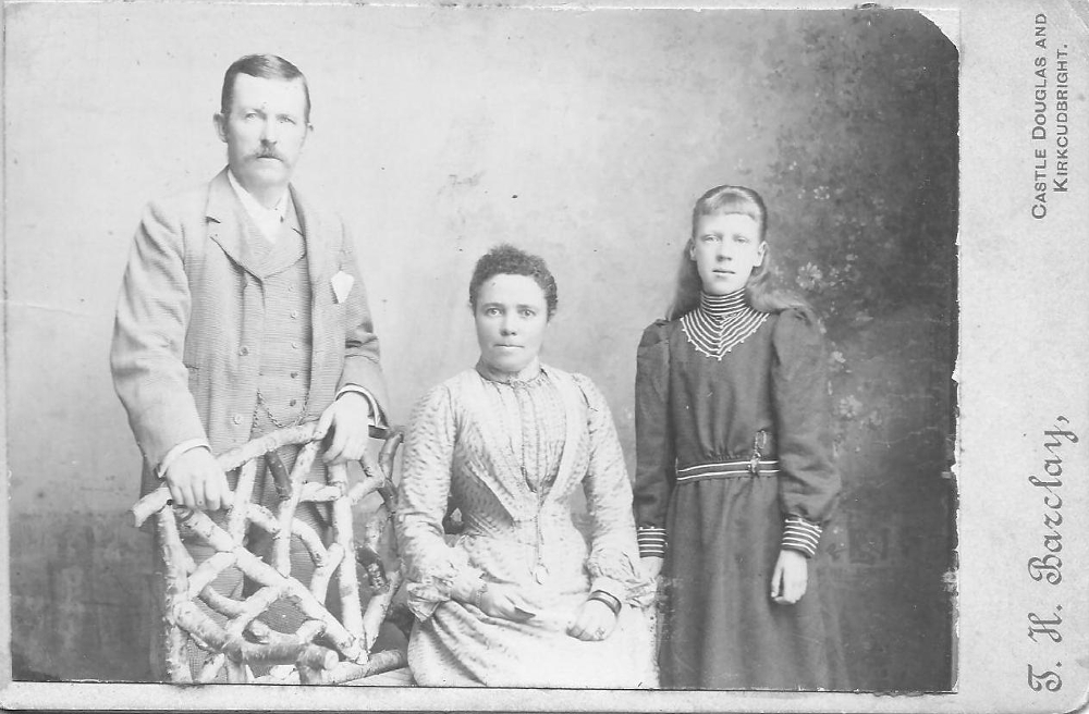 "Unidentified Ancestors, Plainfield, MA. Photo Titled ""The Mathersons"""