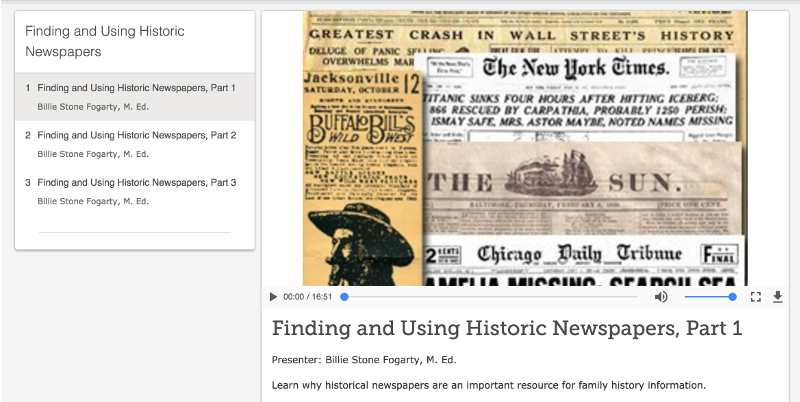FS Newspapers Courses — FamilySearch.org