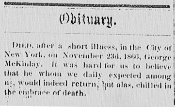 McKinlay, George, Obituary, Charleston Advocate, 1867