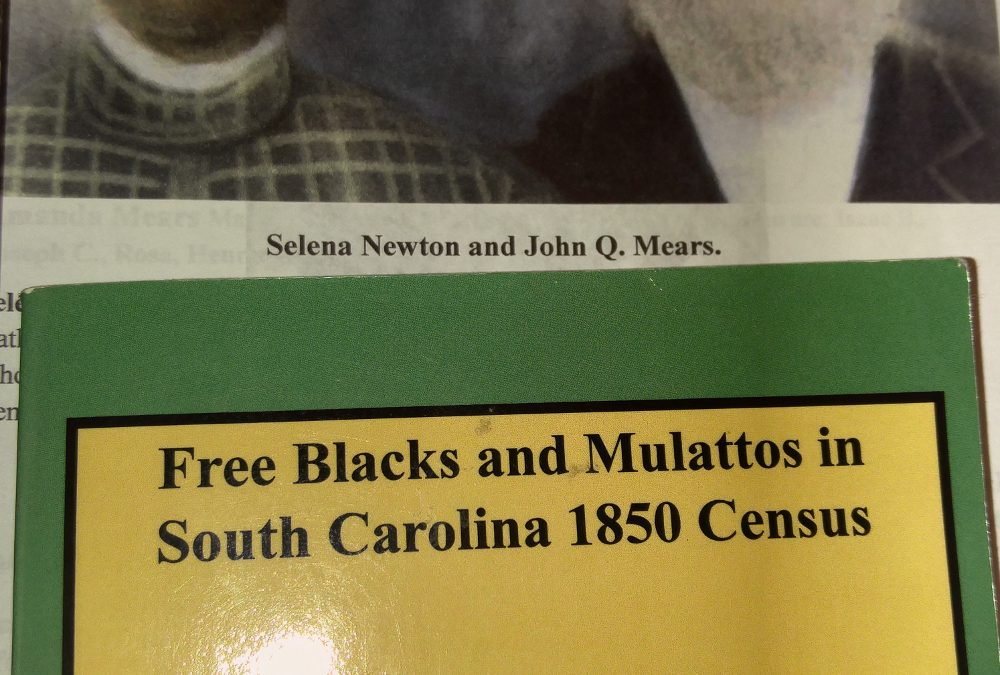 Salina (Newton) Mears, FPOC, b. 1831 Beaufort, SC, Contributed by Mary Mack