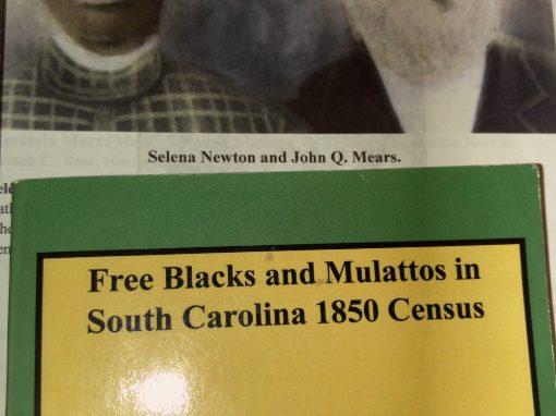 Salina (Newton) Mears, FPOC, b. 1881 Beaufort, SC, Contributed by Mary Mack