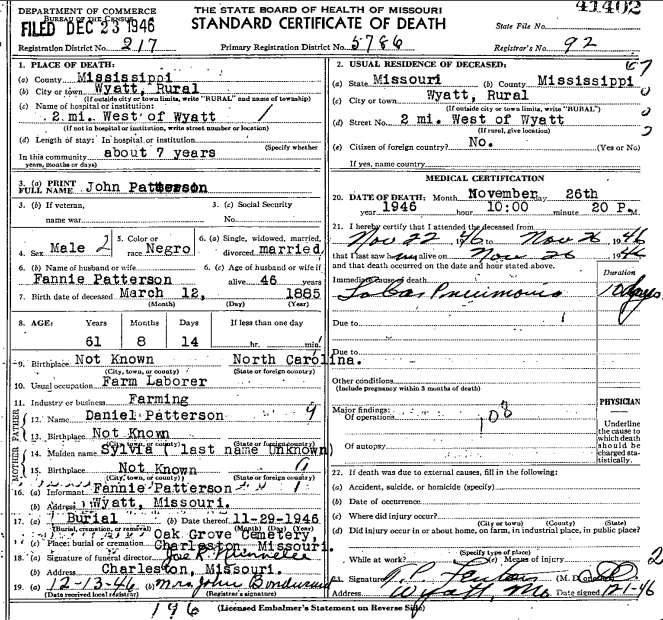 African American Genealogy Records at Home: Births, Marriages and Deaths