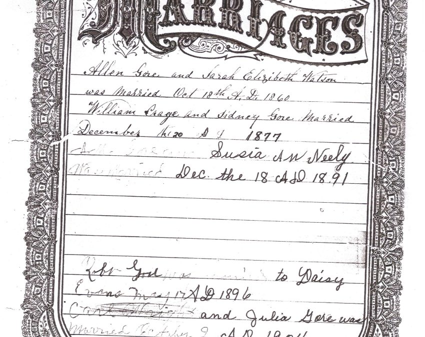 Gore-Watson Family Bible, TN, Contributed by Rochelle (Callahan) Males