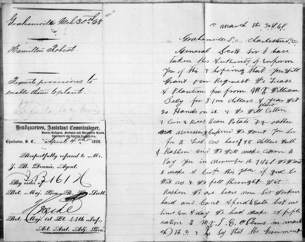 Letter Written by Freedmen, 1868 Page 1