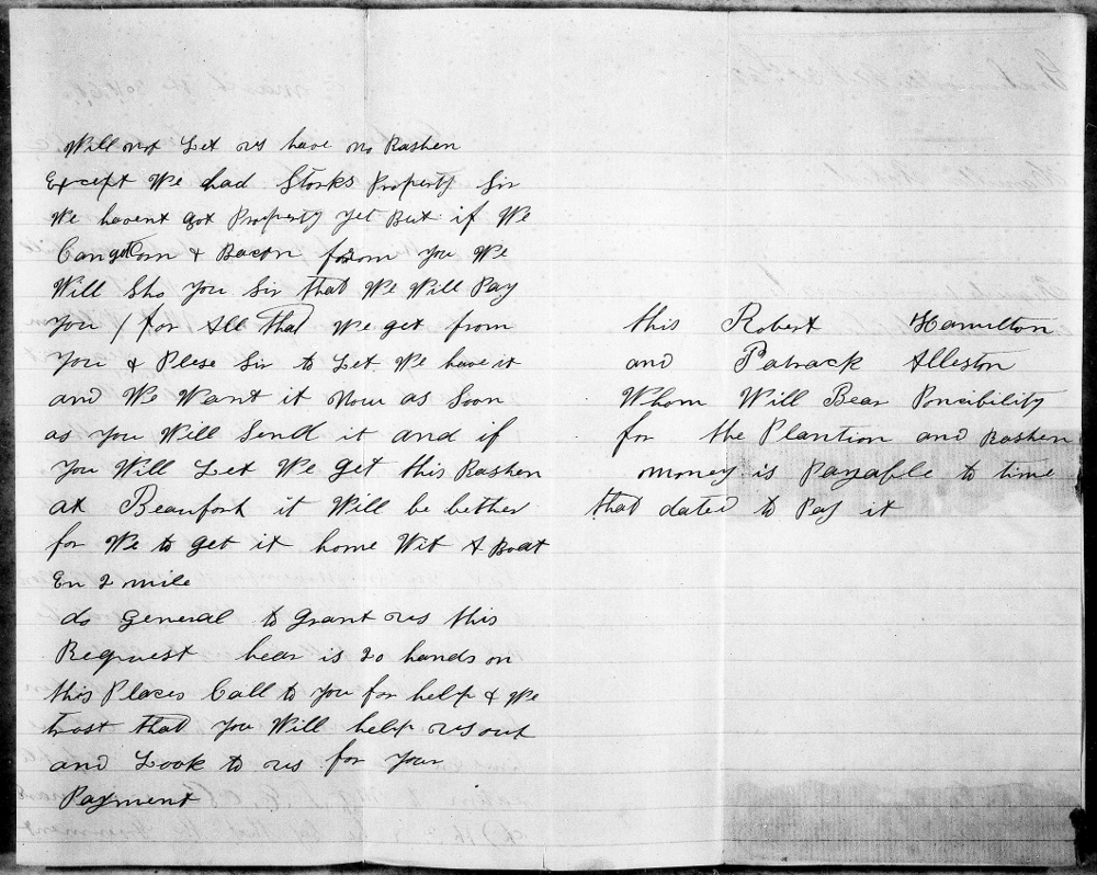 Letter Written by Freedmen, 1868 Page 2