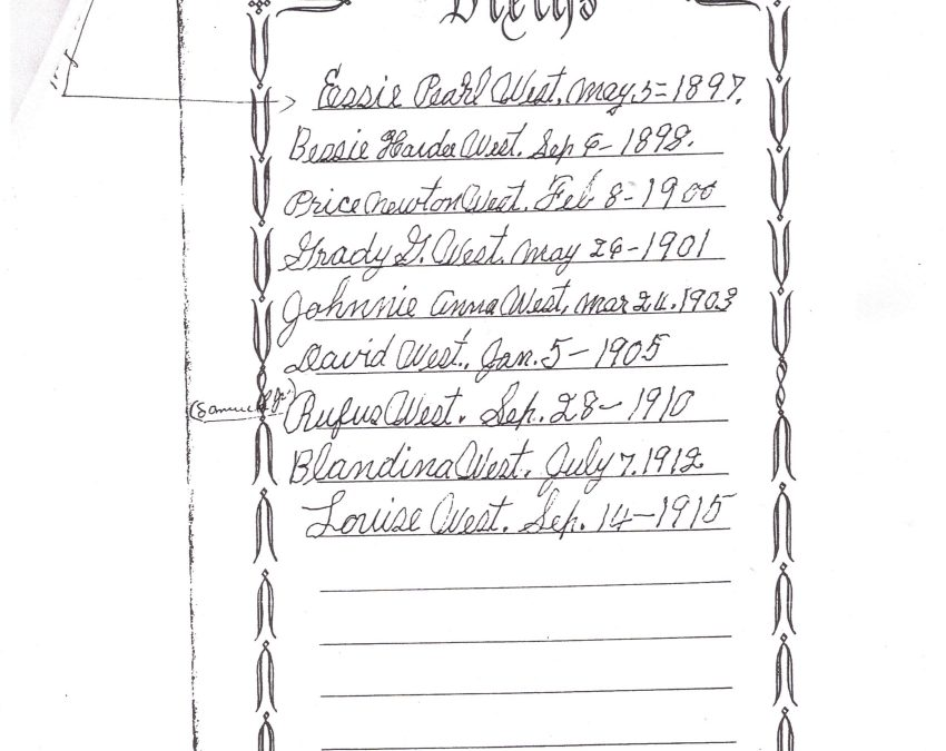 West-Norman Family Bible, TX, Contributed by Rochelle (Callahan) Males
