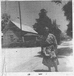 Mrs. Annie Padgett-Rowe, Duncan St (formerly Saluda St) in Batesburg, SC, June 1967, Contributed by Edgefield Miles