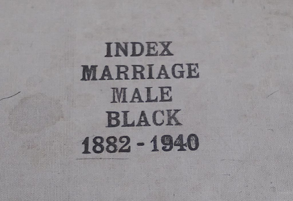 Marriage Index Book