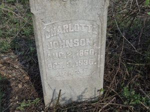 Charlotte Johnson Headstone