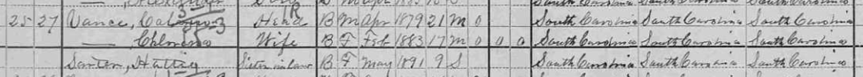 Calvin Vance Census