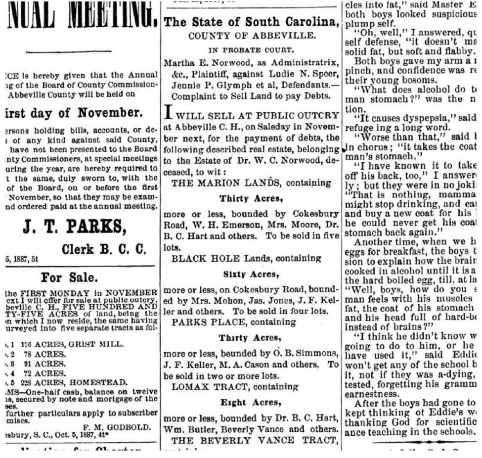 Chronicling America Has Newspapers from Abbeville and Yorkville 1880