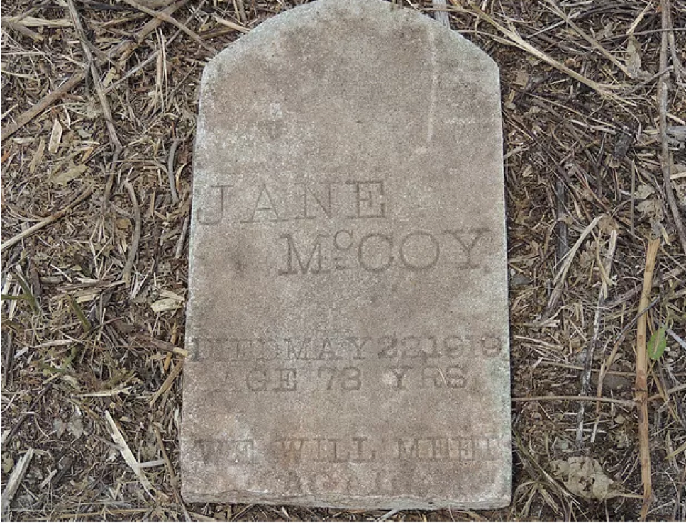 Headstone of Jane McCoy Greenwood SC