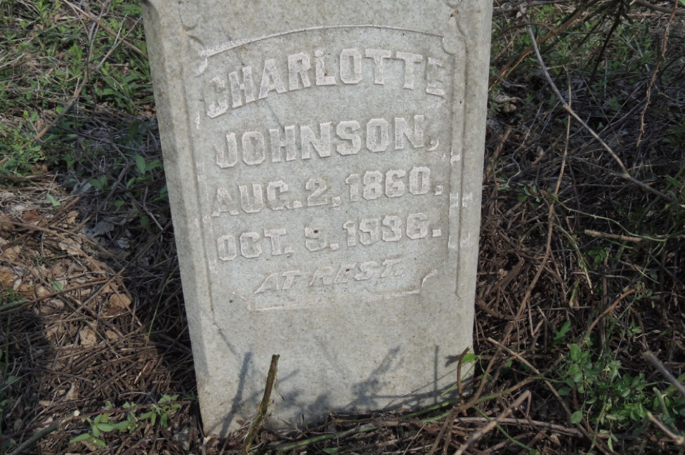 Headstone for Charlotte Johnson, Greenwood, SC
