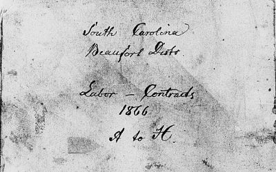Beaufort District, South Carolina Freedmen's Bureau Labor Contracts, A-W, 1866