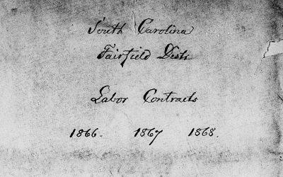 Fairfield, South Carolina Freedmen's Bureau Labor Contracts, Jan. 1866 – Apr. 1866