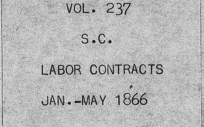 Moncks Corner, South Carolina Freedmen's Bureau Labor Contracts, Jan – May 1866
