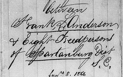 Spartanburg District, South Carolina Freedmen's Bureau Labor Contracts, Series I, A-Z, Dec. 1865 – June 1866