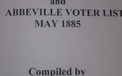 Voters in the Town of Abbeville, SC in 1885 and 1893