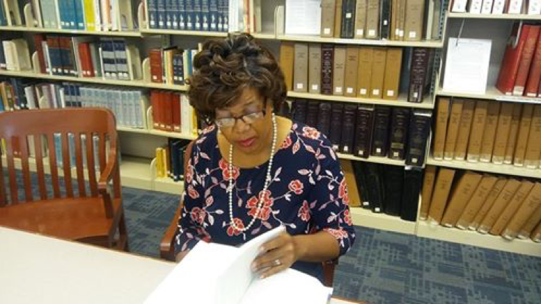 Robin R. Foster at the South Carolina History Room at Charleston County Library. Photo by Ellis McClure.