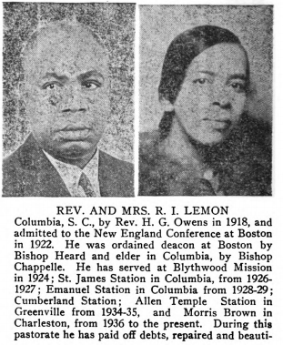 African American Genealogy: Morris Brown AME Church and the Lemon Family