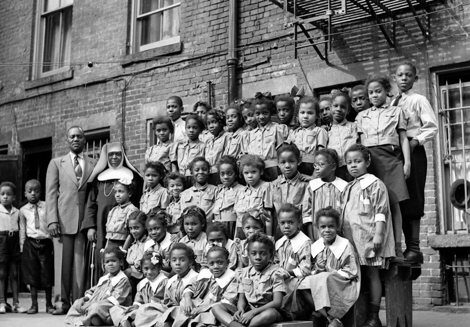 Unknown Children, Harlem, New York City, ca. 1940's, Contributed by Aaron Mitchell