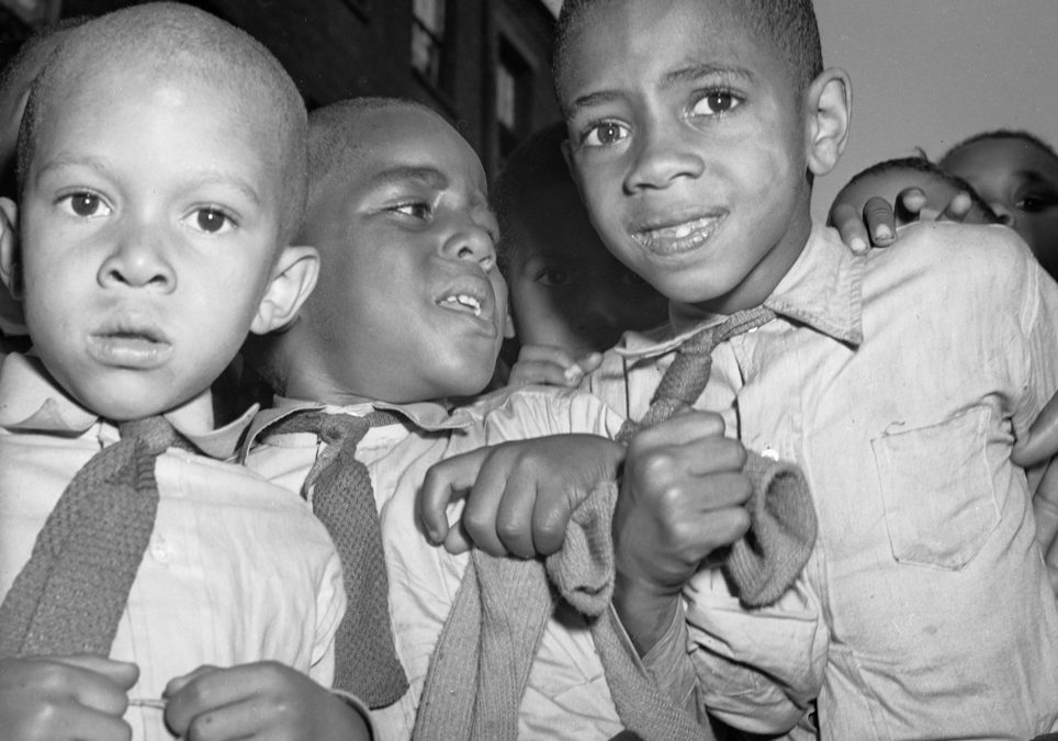 Unknown Children, Harlem, New York City, ca. 1940s, Contributed by Aaron Mitchell