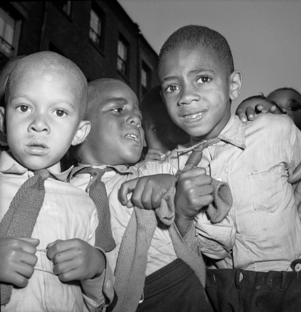 Unknown Children, Harlem, New York City, ca. 1940s