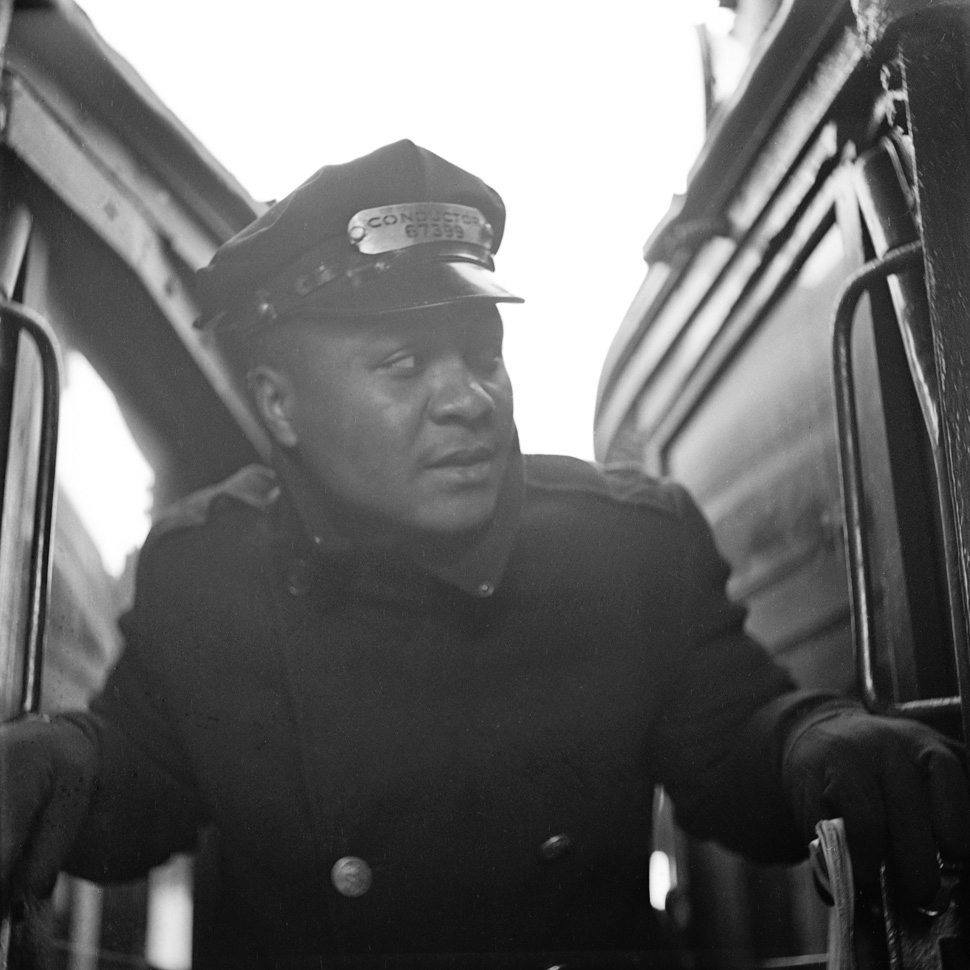 Unknown, Believed to be the 3rd Avenue El Train Conductor, ca.1950's, New York City, Contributed by Aaron Mitchell