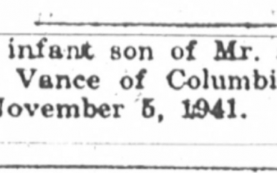 African American Genealogy: Two More Birth Announcements for Mr. and Mrs. E. W. Vance