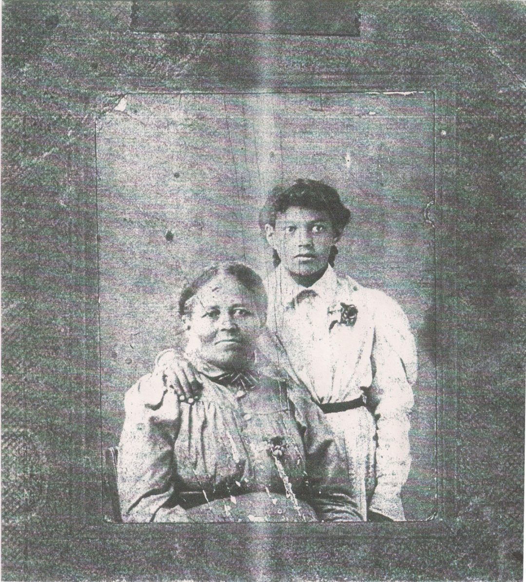 Mary Catherine (Goens/Goings) Marsh and Mary Manitou/Maniteau, ca. 1895, Benzie County, Michigan, Contributed by Shelley Murphy