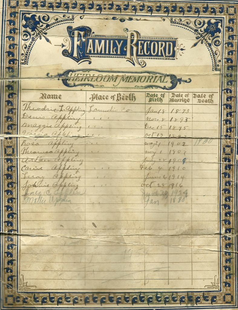 Applin-Family-Bible Contributed byValerie Herod Belay
