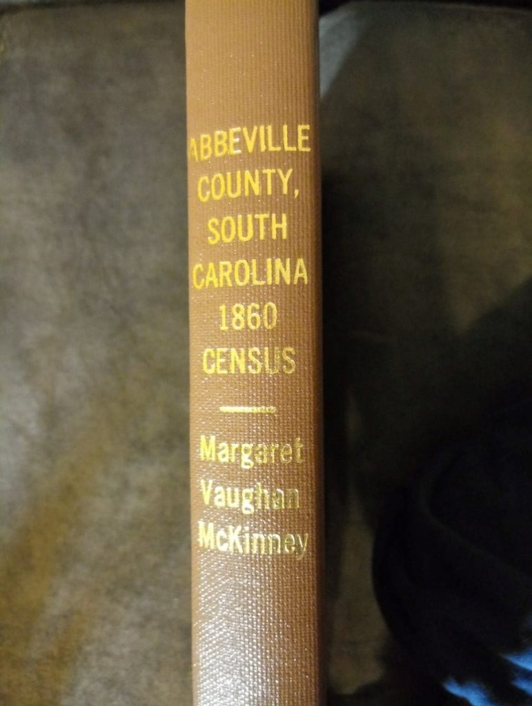 Abbeville County, South Carolina, 1860 US Census, Margaret Vaughn McKinney, Augusta, Georgia. Photo by Robin Foster.