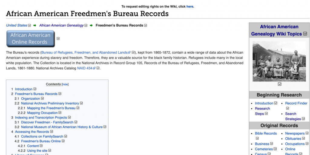 African American Freedmen s Bureau Records Genealogy - FamilySearch Wiki