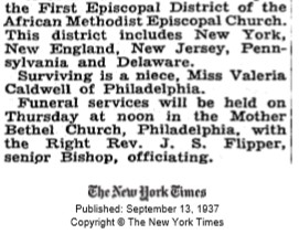 Bishop William H. Heard, Bishop W. H. Heard Clergyman 67 Years, The New York Times, 13 September 1937, New York, New York, https://www.nytimes.com/1937/09/13/archives/bishop-w-h-heard-clergyman-67-years-headed-first-district-of.html