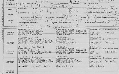 US, Texas, Harrison County–Delayed Birth Records, 1860-1933