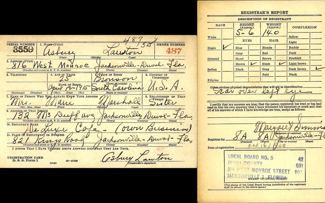 United States World War II Army Enlistment Records, 1938-1946