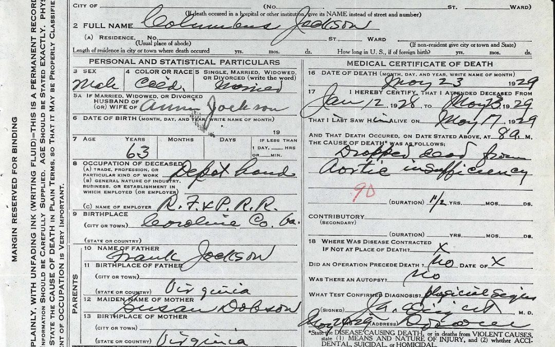 Virginia, Death Certificates, 1912-1987