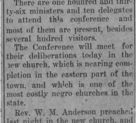 African American Genealogy: The Dothan Eagle Has Notice of A.M.E. Conferences