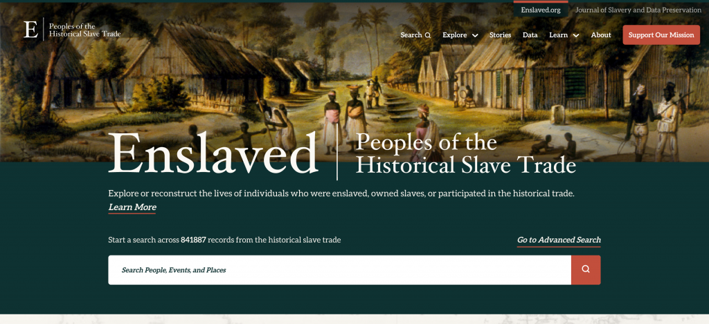 Enslaved.org Home Page